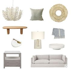 Mood board for neutral living room with sofa and accessory choices Cosy Lounge, Lounge Decor, Interior Design Inspiration, Room Inspiration, Vintage Interiors, Diy Home Decor Projects, Diy Interior, Dream Decor, Creative Home