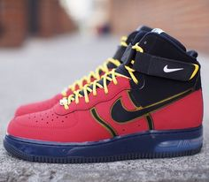 Nike Air Force 1 High – University Red / Black