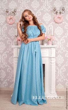 Голубые платья на каждый день