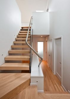 Pretty wood floors and stairs