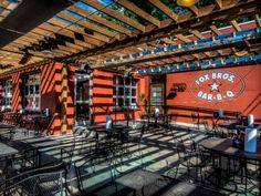 The beef brisket is a must-have at the award-winning outpost with a divey dining room and huge patio. Eat up, and then take home a bottle of the knock-your-socks-off sauce.Fox Bros. BBQ, 1238 Dekalb Avenue, Atlanta (404-577-4030 orfoxbrosbbq.com).