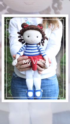 Crochet Doll Tutorial, Beginner Crochet Tutorial, Crochet Doll Pattern, Crochet Toys Patterns, Dress Sewing Patterns, Amigurumi Patterns, Stuffed Toys Patterns, Amigurumi Doll, Doll Patterns