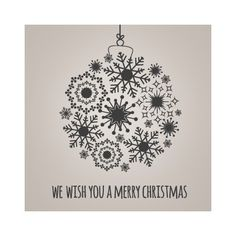 """Vinilos decorativos de Navidad con frase """"We wish you a Merry Christmas"""" y motivo de decoración navideño para paredes o escaparates en tiendas y comercios."""