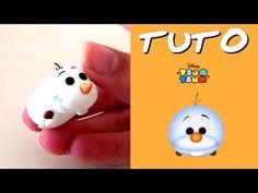 TUTO FIMO | Tsum Tsum Olaf polymer clay tutorial Polymer Project, Polymer Clay Projects, Clay Crafts, Kawaii Disney, Disney Diy, Disney Dream, Olaf, Fimo Clay, Polymer Clay Charms
