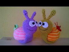 Tutorial Lumaca Uncinetto Amigurumi - Snail Crochet - Caracol Croche - YouTube
