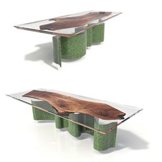Resin Table Made By Riverwoodeu Consoles Bog Oak 800 6500 Years Old FOR
