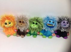 Frizzys Ty Beanie Boos Lot of 5 Plush Monster Stuffed Animals Toys
