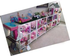 Handmade Barbie House For Little Ladies - Explore TrendingYou can find Barbie house and more on our website.Handmade Barbie House For Little Ladies - Explore Trending Dreamhouse Barbie, Barbie Doll House, Barbie Dream House, Barbie Dolls, Dolls Dolls, Barbie Storage, Toy Storage, Barbie Organization, Toy Rooms