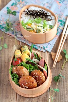 bento lunch- splitting up the layers