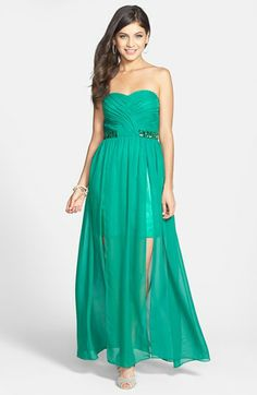 Hailey Logan Embellished Cutout Gown (Juniors) available at #Nordstrom
