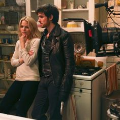 BTS with #CaptainSwan! #OnceUponATime