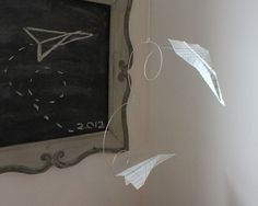 Craft Tutorials Galore at Crafter-holic!: Paper Airplane Mobile