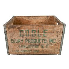 Coble Dairy Products Crate, $60, now featured on Fab.