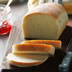 Basic Homemade Bread Recipe -If you'd like to learn how to make bread, here's a wonderful place to start. This easy white bread recipe bakes up deliciously golden brown. There's nothing like the homemade aroma wafting through my kitchen as it bakes. —Sandra Anderson, New York, New York