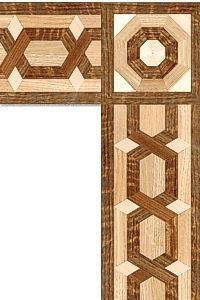 فلتو هندسى مكون من خشب أرو يتخلله خشب موجنة + بلوط.