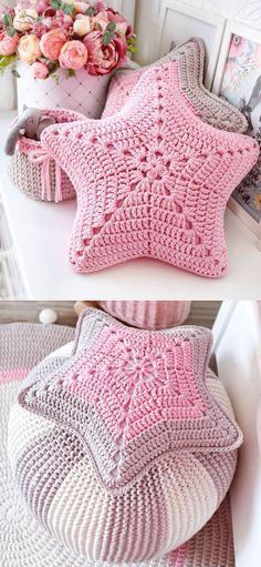 Star-Shaped Pillow Ideas Star-Shaped Pillow Ideas Related posts:Crochet sock pattern for the whole family. These beautiful cable crochet socks .How To Crochet A Shell Stitch Purse Bag - reiseCrochet Animal Ears Headbands -. Crochet Lion, Crochet Stars, Crochet Home, Love Crochet, Crochet Crafts, Single Crochet, Crochet Projects, Knit Crochet, Crochet Animals