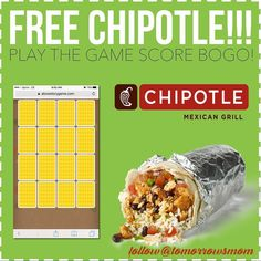 FREE Chipotle coupons are back!! I posted this on our Facebook Group so go join the link in my bio @tomorrowsmom . Go to the site on the pic above alovestorygame.com. Click Play to start matching your cards. After you try you get a Free Buy One Get One Free coupon!!. Ok and here's what the #tmomtip is to get more than one:. Erase cookies on phone and then visit the site again! Enter a diff mobile phone because it's only one per mobile number. I sent to all my friends and family to get this…