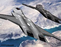 Sixth-generation fighter based on the model of Lockheed Martin for AFRL ESAV studies