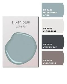 Chip It! by Sherwin-Williams – love the silken blue for the great room by mavis