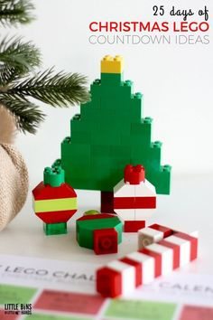 Christmas Building Ideas Calendar for Kids {FREE Printable} Free LEGO Christmas Calendar Printable for LEGO Advent or CountdownnFree LEGO Christmas Calendar Printable for LEGO Advent or Countdownn Christmas Countdown, Lego Christmas Ornaments, Countdown For Kids, Christmas Calendar, Christmas Fun, Holiday Fun, Christmas Decorations, Lego Advent Calendar, Kids Calendar