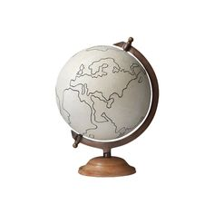 Jamie Young 7GLOB-LGCA Large Canvas Globe ❤ liked on Polyvore featuring home, home decor, jamie young, vintage home decor, vintage globe, vintage home accessories and canvas home decor