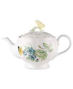 Lenox Dinnerware, Butterfly Meadow Teapot