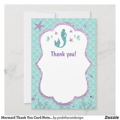 Mermaid Invitations, Baby Shower Invitations, Birthday Invitations, Mermaid Birthday, Birthday Fun, Mermaid Baby Showers, Purple Teal, Custom Thank You Cards, Birthday Balloons