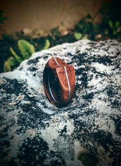 Briar ring with alluminium inlay
