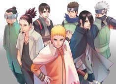 The Adult Men If the Old Geberation: Naruto, Sasuke, Shikamaru, Konohamaru, Kakashi, Shino ❤️❤️❤️