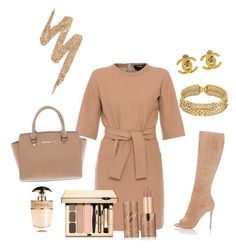 """""""Untitled #71"""" by renadagreer on Polyvore featuring Chanel, Paule Ka, Michael Kors, tarte, Urban Decay, Prada and Gianvito Rossi"""