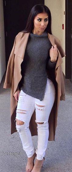 Pinterest: Nail Design Fashion Moda, Cute Fashion, Fashion Looks, Fashion Outfits, Womens Fashion, Fall Winter Outfits, Autumn Winter Fashion, Summer Outfits, Stylish Outfits