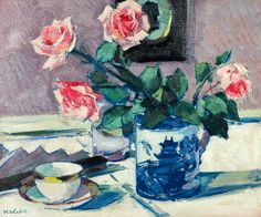Francis Campbell Boileau Cadell  Pink Roses  1925-29