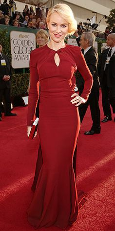 Trend spotting at the Golden Globes (Red Hot) -- Naomi Watts also opted for red