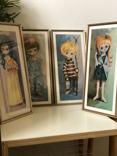 Excited to share this item from my shop: Set of 4 vintage large eyed children framed prints by B Golding set of 4 kids 4 Kids, Children, Swedish Christmas, Close Up Photos, Hanging Tapestry, Retro Design, Christmas Angels, Retro Vintage, Framed Prints