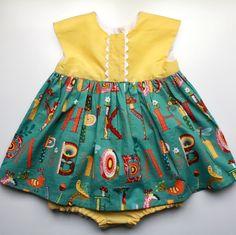 Baby Girl Geranium Dress - DIY Sewing project