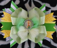 Tinkerbell Boutique Bow. $7.00, via Etsy.