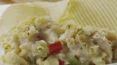 A creamy homestyle sauce coats this classic noodle casserole brimming with flaky tuna and fresh vegetables. For a tyke-friendly topper, complete the bubbly casserole with crumbled potato chips. Tuna Casserole, Noodle Casserole, Casserole Recipes, One Pot Dishes, Pasta Dishes, Main Dishes, Side Dishes, New Recipes, Cooking Recipes
