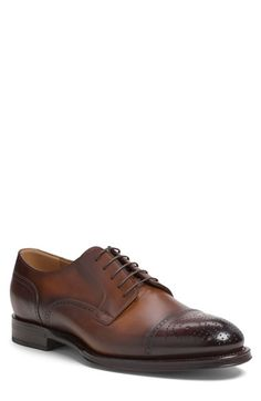 Gucci 'Boss' Medallion Toe Derby (Men) available at #Nordstrom