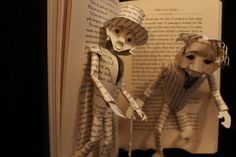 Dr Jekyll and Mr Hyde Book Sculpture by WetCanvasArt on Etsy, $150.00