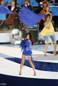 Singer Carola performs during the Opening Ceremony of the 19th European Athletics Championships at the Gotaplatsen on August 6, 2006 in Gothenburg, Sweden.