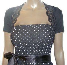 Fashion Victim, Ladies Short Sleeve Lace Trim Bolero Shrug, Cardigan: Amazon.com: Clothing $19.99