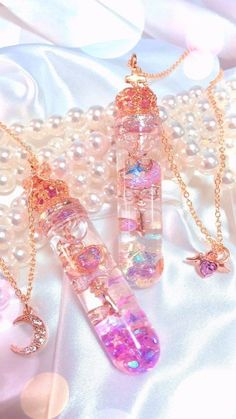 candy and kawaii image Kawaii Jewelry, Kawaii Accessories, Cute Jewelry, Jewelry Accessories, Magical Jewelry, Accesorios Casual, Fantasy Jewelry, Fairy Jewelry, Mermaid Jewelry