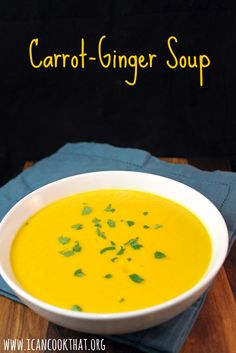 chile butter recipes dishmaps carrot ginger soup with chile butter ...