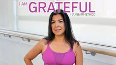 """""""I am grateful. I am Bar Method.""""   Maria has been coming to Bar Method for 2 years after not exercising at all. She knew that she had to make a change and was excited when she saw changes right away after taking classes. She's constantly empowered and inspired by the people around her in class and that has made her stronger. #IAMBARMETHOD"""