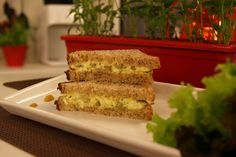 Sanduíche de Salada e Ovo   Receitas   Dia Dia