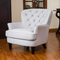 Christopher Knight Home Tafton Tufted Natural Fabric Club Chair - Overstock Shopping - Great Deals on Christopher Knight Home Living Room Chairs