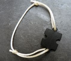 Bijoux Elena Garcia - Bracelet Puzzle Ardoise
