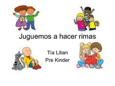 Juguemos a hacer rimas by Lilian via slideshare Rhyming Activities, Educational Activities, Bilingual Education, Teaching Spanish, Winnie The Pooh, Literacy, Kindergarten, Teacher, Classroom