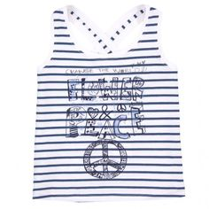 f72bff1e5df60 This marine blue striped strappy top is perfect for the Summer holidays.