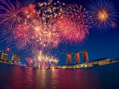 Fireworks, National Day 2012, Singapore